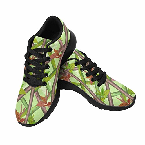 InterestPrint Womens Trail Running Shoes Jogging Lightweight Sports Walking Athletic Sneakers Bamboo Pattern Multi 1 ff0QT