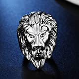 Beppter Men's Ring-Vintage Stainless Steel Lion