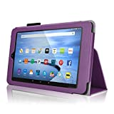 Case for Fire HD 10 - Elsse Premium Folio Case with Stand for the NEW Fire HD 10, 10 Display (Sept, 2015 Release) - Purple