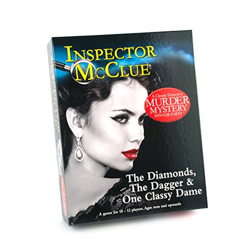 Inspector McClue Murder Mystery Dinner Party Game - The Diamonds  the Dagger & One Classy Dame