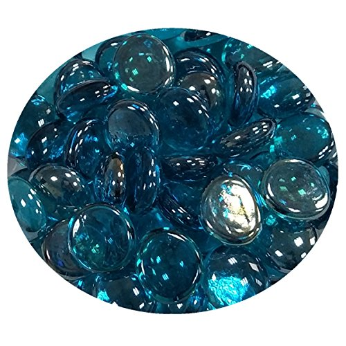 Global Outdoors 10-Pound Reflective Aqua Blue 1/2″ Fire Glass Beads For Sale
