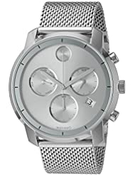 Movado Mens Swiss Quartz Stainless Steel Watch, Color: Silver-Toned (Model: 3600371)