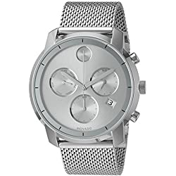Movado Men's Swiss Quartz Stainless Steel Watch, Color:Silver-Toned (Model: 3600371)