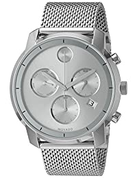 Movado Men's Swiss Quartz Stainless Steel Watch, Color: Silver-Toned (Model: 3600371)