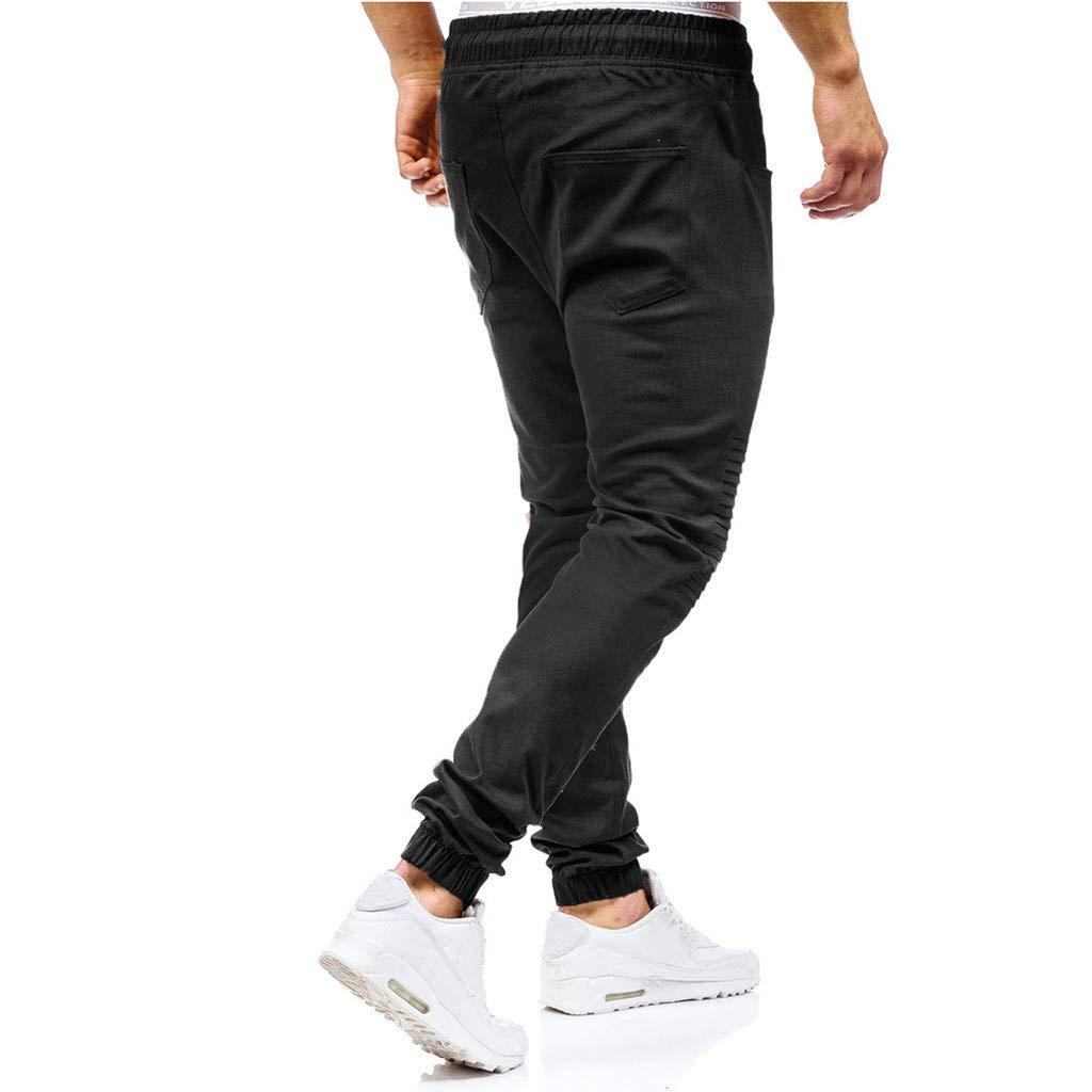 JiaMeng Pantalones de Trabajo Estilo Cargo para Hombre Pantalones Largos de pantal/ón de Trabajo Multibolsillos s/ólidos al Aire Libre Ocasionales para Exteriores para Acampar Senderismo para Caminar