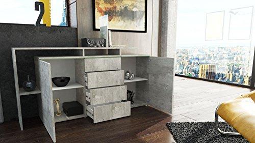 Credenza Moderna Modello Lecce : Credenza moderna modello lecce madia per soggiorno finitura in