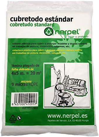 9 MICRAS HDPE NERPEL L/ÁMINA DE PL/ÁSTICO CUBRETODO 4X5 M EST/ÁNDARD