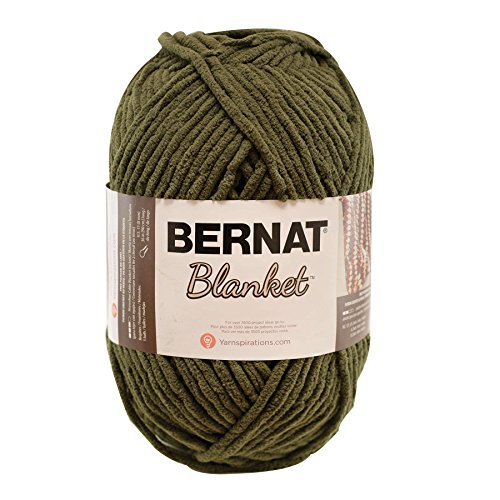 Bernat 16111010241  Blanket Yarn, 10.5 Ounce, Olive, Single (Olive Green Chenille)