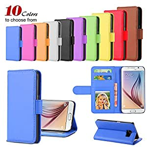 Leather Case for Samsung Galaxy S6 Accessories Wallet Stand +Photo &Card Holder Flip Retro Luxury Cover 100pcs/lot DHL wholesale --- Color:White