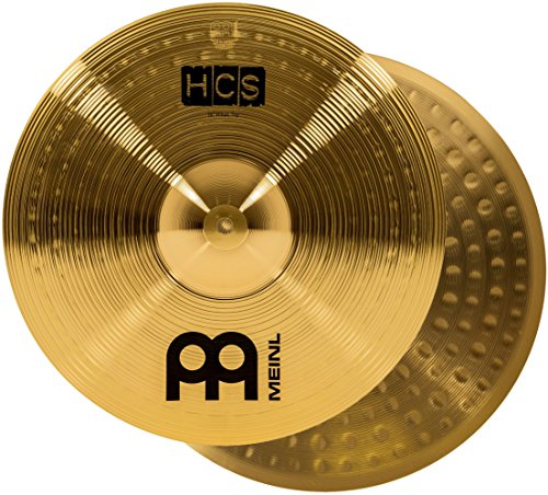 "Meinl 14"" Hihat (Hi Hat) Cymbal Pair – HCS Traditional Finish Brass for Drum Set, Made In Germany, 2-YEAR WARRANTY (HCS14H) ()"