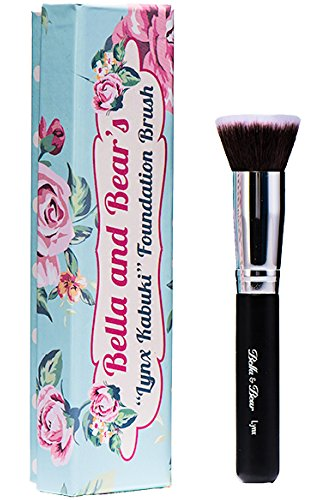 Foundation Brush - Kabuki - Our Professional Flat Stippling Brush Works with Liquid - Mineral and Powder Foundation -
