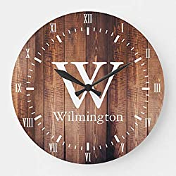 FabricMCC Personalized Family Name Clock -Monogram Clock, Gift for Couples, Wedding Clock, Anniversary Clock, Personalized Clock, Custom Clock