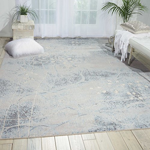 Nourison Somerset (ST74) Silbl Rectangle Area Rug, 5-Feet 3-Inches by 7-Feet 5-Inches (5