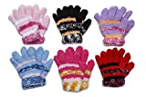 Toddler Soft And Warm Fleece Lined Gloves 6-Pack (Fuzzy Gloves)