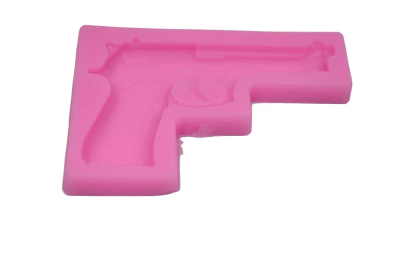 6 shooter revolver Silicone Mold Gumpaste Fondant Cake Chocolate clay  500 Gun