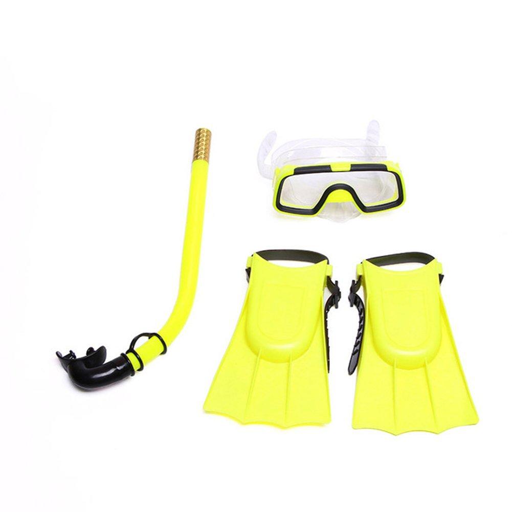Abusun 3pcs Kids Children Snorkeling Set Boys Diving Kit Training Equipment for Children Diving, Snorkeling and Swimming