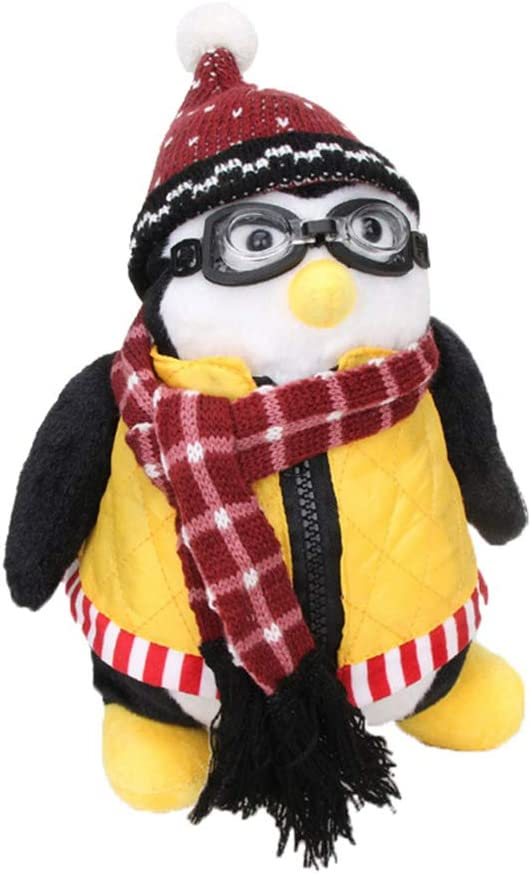 Raymonj Juguete de pingüino de Peluche Joey's Friends Muñeca rellena de Rachel Suave Colección de Ropa Desmontable Regalo para niños 10.6in