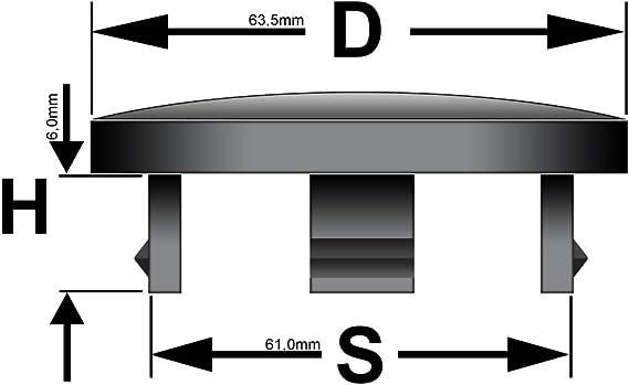 White Label 4 X Außen 63 5mm Innen 61 0mm Nabenkappen Felgendeckel Radnabendeckel Auto