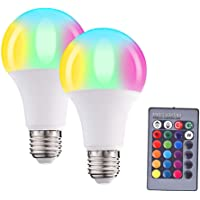 LED Bulb,LED Color Changing Light Bulb with Remote Control,10W,E26 Base,RGB+W, 16 Different Color Choices Smooth Flash…
