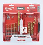 Milwaukee 48-89-4681 Shockwave Titanium Red Helix Drill Bit Set (19-Piece)