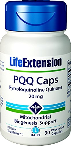 Life Extension PQQ Caps, 20 Milligrams, 30 Vegetarian Capsules