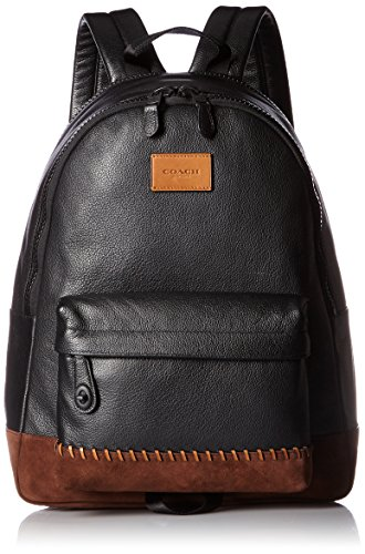 COACH Men's Modern Varsity Campus Backpack Black/Mahogany Backpack
