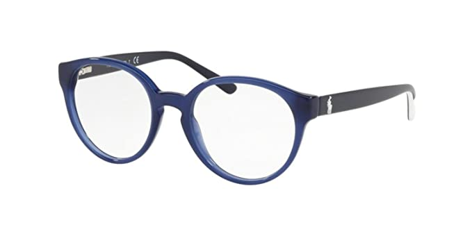 Ralph Lauren POLO 0PP8533 Monturas de gafas, Opalin Blue, 44 para ...