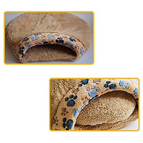 Amazon.com: BeesClover New Pet Cat Kitten Bed House Warm Sleeping Bag Cave Nest Soft Fleece Small Dog Sleeping Bag Waterloo Pet Sonno Pet Sofa Hot Brown S: ...
