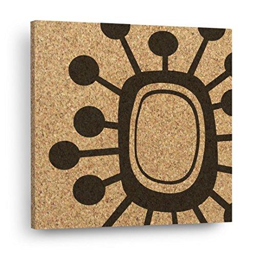 ATOMIC SPUTNIK Mid Century Modern Trivet - Retro Abstract Mix & Match Decor Tiles - Wall DéCork