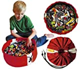 SWOOP Mini Storage Bag - RED - Ideal for organizing and cleaning up legos!