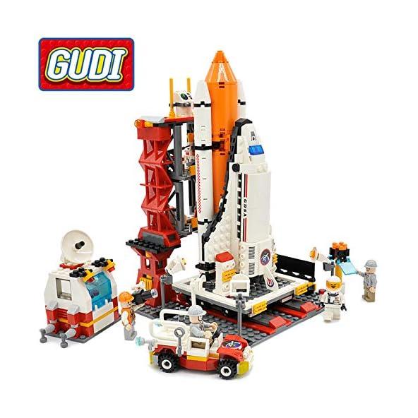 Akrobo 679 Pcs Block Brick Educational Space Shuttle Launch Center DIY Building Blocks Toy