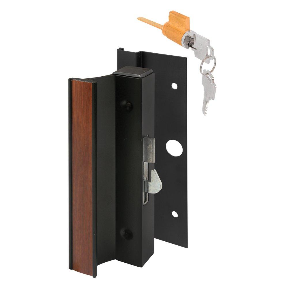 Prime Line Products C 1094 Keyed Sliding Door Handle Set Black