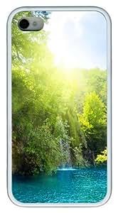 Bright Sun TPU White Case for iphone 4S/4 by icecream design