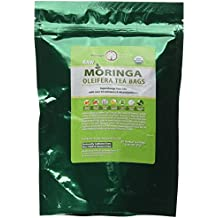 USDA Organic Moringa Superfood Tea-60 Teabags, 100% Pure, Raw, Potent, All Natural, Energy Boosting, Non-GMO. Rich in Nutrients, Amino Acids, Anti-inflammatories, Antioxidants and Vegetable Proteins.