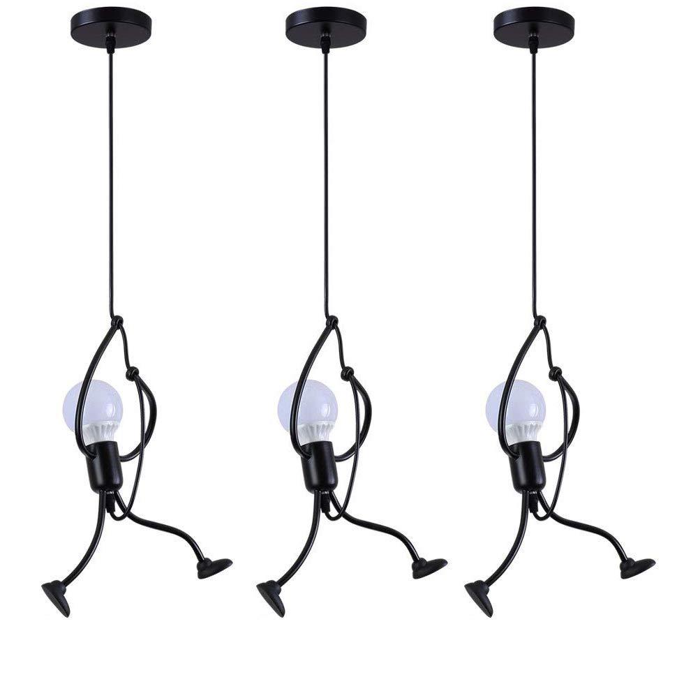 Retro Colgante de luz Vendimia Planchar Dibujos animados L/ámpara colgante para Cuarto de ni/ños Habitaci/ón Sala de  estar Foyer Cocina Bar Bar Ba/ño Balc/ón Escalera Loft Candelabro Ara/ña de luces