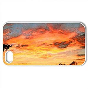 Blaze - Case Cover for iPhone 4 and 4s (Sky Series, Watercolor style, White)