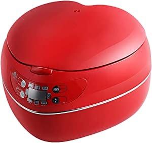 Old fashioned Rice Cooker (1.8 liters / 300W / 220V) Home Insulation Function Quality Inner Pot Spoon Steamer Mini Heart-shaped Dormitory Small Appliances Can Accommodate Up To 2 People (Color : A)