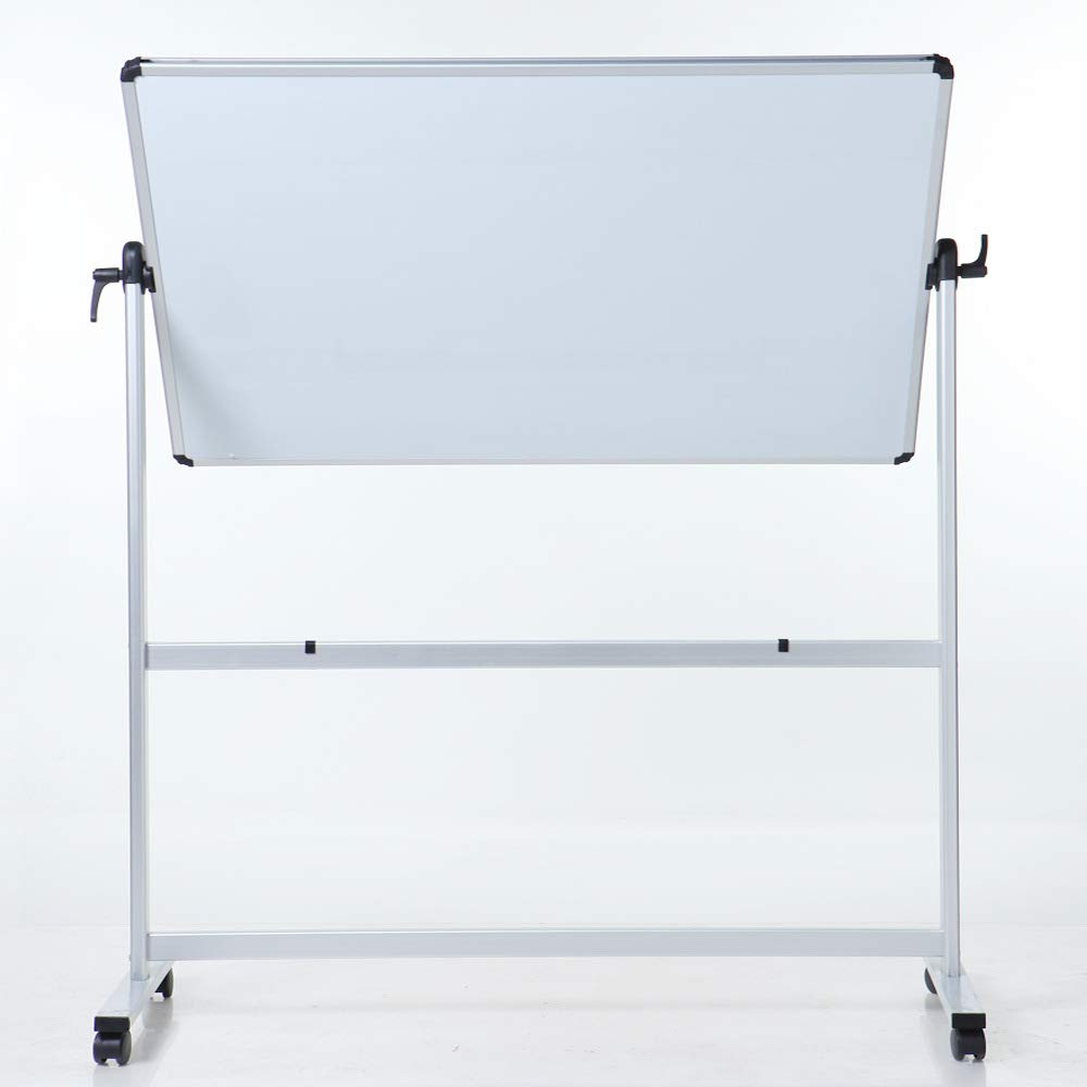 Double-Sided Mobile Dry Erase Magnetic whiteboard with Stand, 48''36''