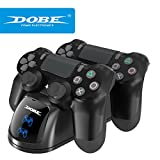 PS4 Controller Charger, DOBE Playstation 4 Controller Charging Dock Station, PS4 Dual Charger for Dualck Shock 4 Controller