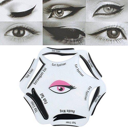 Frcolor Eyeliner Stencil Template Mold Makeup Tool