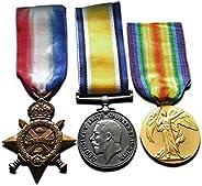 Goldbrothers13 WW1 Medals Trio 1914-15 Star, War & Victory Medal New R