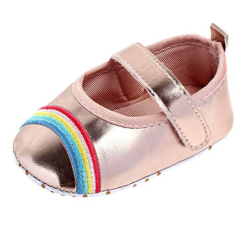 AgrinTol Cute Baby Girls Newborn Infant Rainbow Bling Casual First Walker Toddler Shoes]()