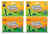 Flush Puppies Doodie Bags, Flushable & Certified Compostable, 6 On-the-Go Packs (120 Bags)
