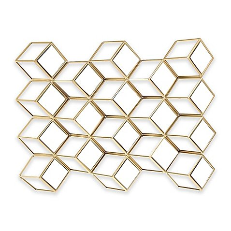 Wall Mirror Featuring A Midcentury Mod Design With An Elegant Gold - Gq Review Magazine