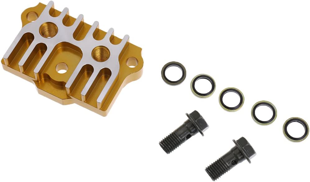 Reparatur Zubeh/ör f/ür Motorrad ATV Gel/ändemotorrad MagiDeal Ersatz /Ölk/ühler CNC K/ühler Adapter Platte
