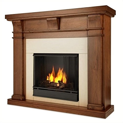 Real Flame Porter Fireplace in Walnut Finish