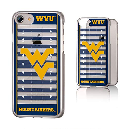 (Keyscaper KCLRI7-00WV-VFLD01 West Virginia Mountaineers iPhone 8/7 Clear Case with WVU Football Field Design)