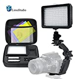 Limo160 Led Video Light Lamp Dimmable Panel And Charger For Dslr Camera Dv Camcorder With Hard Carry Case