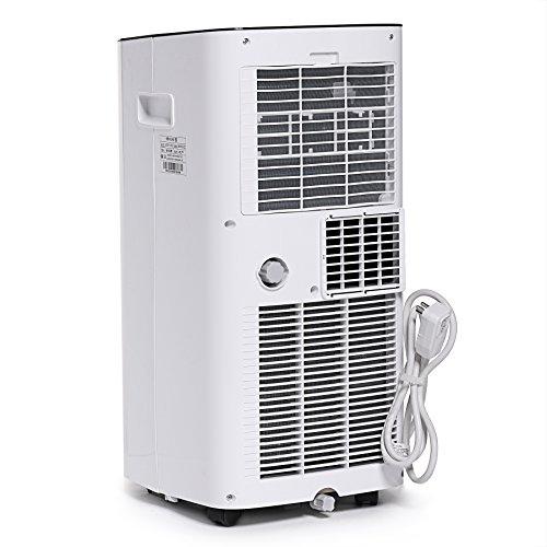 ivation 10 000 btu portable air conditioner compact single hose ac unit dehumidifier w. Black Bedroom Furniture Sets. Home Design Ideas