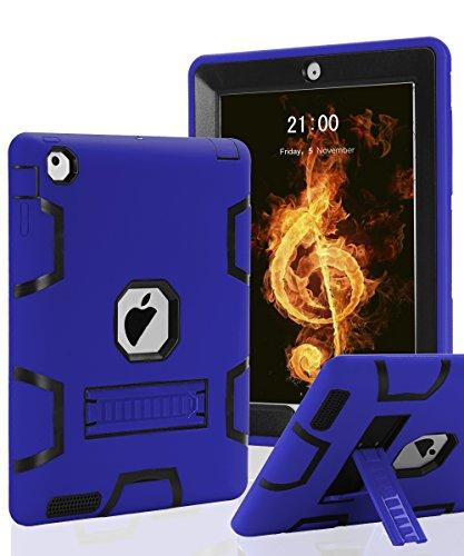 iPad Air 2 Case,SKYLMW 3 in 1 Hybrid Heavy Duty Shockproo...